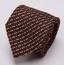 "NWT $255 TOM FORD Silk Tie Chocolate Brown-Copper Orange Woven Pattern 3.25"""
