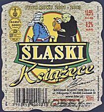Poland Brewery Lwówek Śląski Książęce Beer Label Bieretikett Cerveza ls130.5
