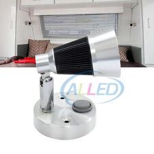 12V Cool White LED Swivel Reading Light RV Caravan Bedside Book Chart Ipad Lamp