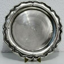 1938´S STERLING SILVER PORTUGUESE PLATE TRAY     9 11⁄64 inch WIDE