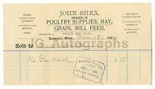 John Shea Company - Lawrence, MA - Vintage Invoice - 1903 Ephemera
