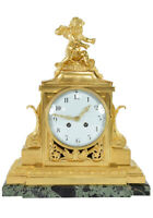 PENDULE LOUIS XV. Kaminuhr Empire clock bronze horloge antique uhren cartel