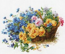 """Counted Cross Stitch Kit ALISA - """"Roses and Cornflowers"""""""