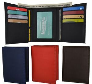 Slim Thin Trifold Boys Credit Card ID Holder Men's Wallet Colors!!!