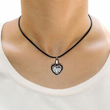 Keepsake Memorial Urn Necklace Jewelry Womens Stainless Steel Pendant Mom Heart