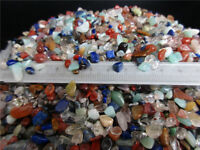 Wholesale 1/4lb Multicolor Bulk CRYSTAL stone GRAVEL CRYSTAL Tumbled REIKI 3-9mm