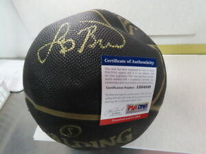 Larry Bird Signed Spalding NBA Highlight Black/Gold Basketball! PSA/DNA!