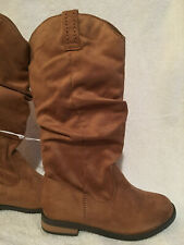 ab3b735c7 New Cat   Jack Evi Suede Scrunch Tall Fashion Boot Cognac Brown Girl Size 13