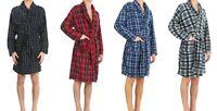 Men's Micro Fleece Flannel Robe with Pockets