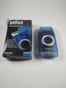 Braun MobileShave M-60b Shaver Pocket Dry Portable Electric Travel Mens Grooming