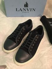 [NEW WITH BOX] Lanvin Lamb Leather Cap Toe Low Top Sneakers US 8
