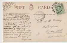 Miss M.A. Bushby, Beltingham, Bardon Mill Northumberland 1905 Postcard, B395