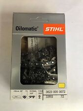 NEW STIHL CHAINSAW CHAIN SAW 20 in. 33RS 72 3/8 .50 72 BLADE REPLACES  72LPX072G