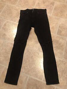 H&M Men's Black Skinny Fit Jeans 32 x 34