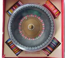 Very Vintage Mego Small Roulette Wheel Game w Poker Chips & Field. Nice