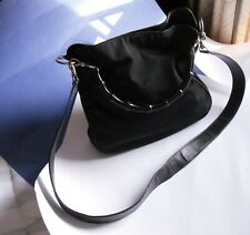 Vintage Gucci Canvas Handbag w/Black Bamboo Handle reg# 001-1638-1705  c.1990's