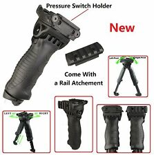 New Defense Rotating Hunting Tactical Vertical Fore Grip Bipod T-POD Black
