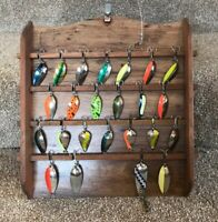 COLLECTABLE VINTAGE FISHING LURES OLD TACKLE DISPLAY GIFT  COLORFUL SPOON BAITS