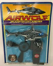 New 1984 Vintage Airwolf Helicopter With Launcher Unopened Fleetwood Toys Sealed