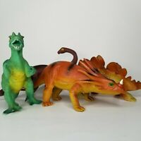 Dinosaurs Dilophosaurus Dilophosaurus Stegosaurus Apatosaurus Plastic Toy (4)