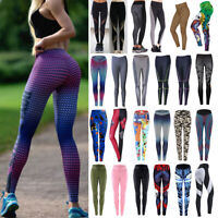 Women's Yoga Stretch Leggings Gym Sports Running Fitness Pants Elastic Trousers