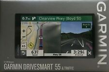 "NEW Garmin GPS DriveSmart 55 & Traffic 5.5"" Display GPS Navigator FREE SHIPPING"
