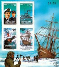 CHILE, ERNEST SHACKLETON, SOUVENIR SHEET, MNH, YEAR 1991, BLOCK N° 53.-