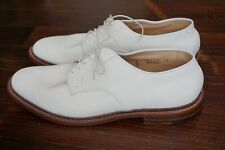 NEW WITH BOX | $565 ALDEN X UNIONMADE 12 D ARTHUR UNLINED SUEDE DOVER IVORY