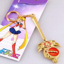 Sailor Moon Cutie Moon Wand Magic Power Scepter Anime Large Keychain Key Ring