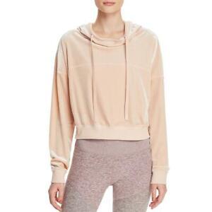 Alo Yoga Womens Pink Velour Athleisure Lifestyle Hoodie Top XS BHFO 7025