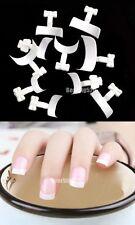 White 500 Pcs French Tips Nail Art Manicure Acrylic UV Gel Tool Decoration Bag