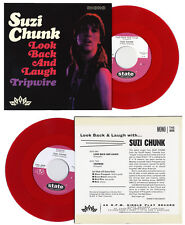 """SUZI CHUNK Look Back And Laugh red vinyl 7"""" Groovy Uncle Kravin As NEW garage"""
