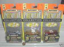 Matchbox 1995 PREMIERE WORLD CLASS #6 Partial Set of 4 Cars Mint in Mint Boxes*