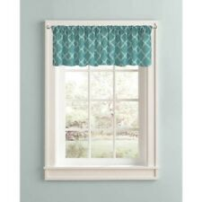 "Trellis Fretwork Textured Window Rod Pocket Valance, Size: 60"" W x 14"" L - New"