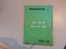 Parts List -  Teile Katalog  Honda  PA 50 - S / DX 1979