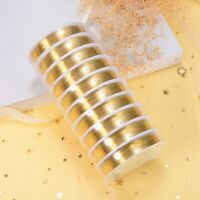 2 Roll Golden Brass Copper Beading Wrap Jewelry Wire Craft 0.2mm-1mm