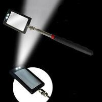 Retractable Telescoping Telescopic Inspection Round Mirror Pocket Clip Car Kits