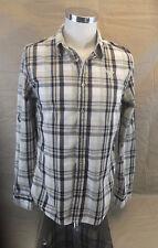 Guess Shirt Small Green Black White Plaid Men's Dress shirt