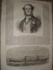 Italia Almirante Persano & flotante de vapor de bomberos Hooghly para Calcuta 1867