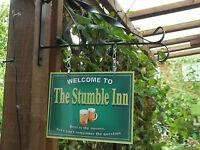 The Original  Personalised Hanging Pub sign, Home Bar, Man Cave Free P&P 20cmx15