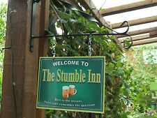 The Original  Personalised Hanging Pub sign, Home Bar, Man Cave, Free P&P