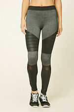 64% OFF!AUTH FOREVER 21 MARLED MOTO WORKOUT ACTIVE LEGGINGS LARGE SRP US$22.90