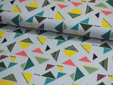 Baumwoll Jersey Dreieck bunt silbergrau Little Darling Kinderstoff Meterware