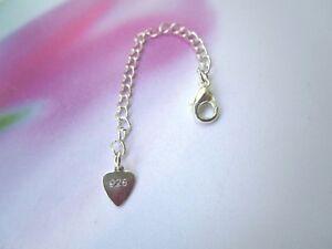 925 Silber Verlängerung-Gliederkette 6 cm Fußkette Halskette Collier Armband