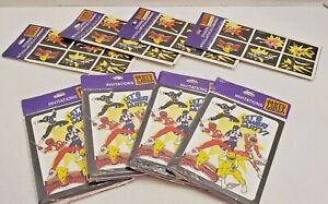 Vintage 1994 Power Rangers Birthday Invitations (4 Packs) and Stickers (4 Packs)