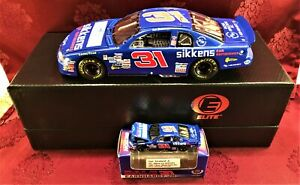 DALE EARNHARDT JR #31 Sikkens Car Refinishes Blue 1997 1/24 Elite & 1/64 HO SET