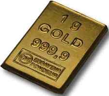 Lingotin d'Or 24 carats 999,9/1000  - 1 gramme Gold Bar