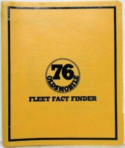 1976 Oldsmobile Fleet Fact Finder Data Book with Letter Cutlass Delta Toronado