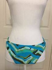 NWOT ladies Mossimo Size XL blue & brown bikini swimsuit bottom