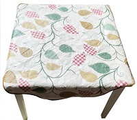 Vintage Vinyl Tablecloth Mid-Century Modern 1950s 1960s Tableware Collectible